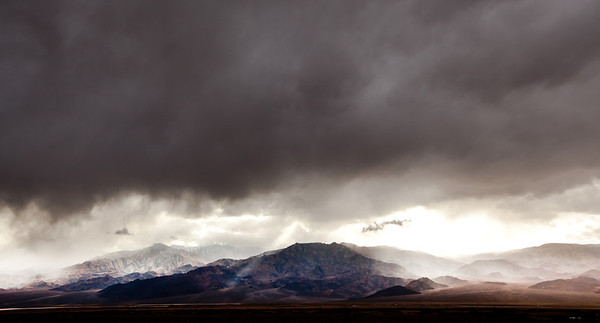 Storming in Death Valley, CA.