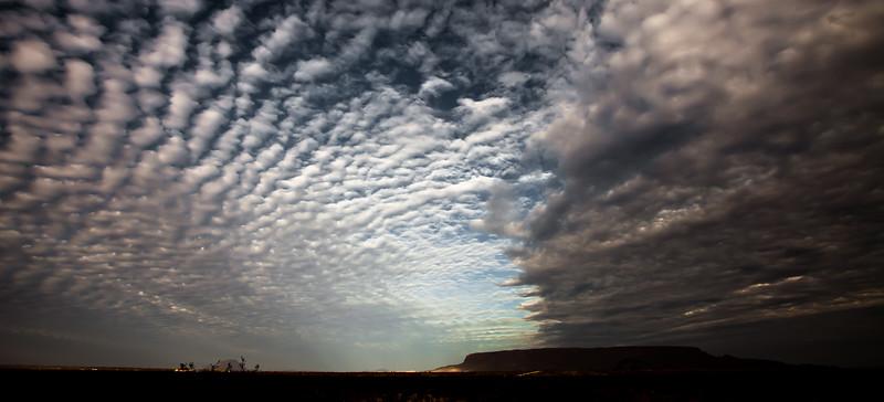 Odd skies..