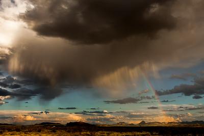 A Sunset and a Rainbow