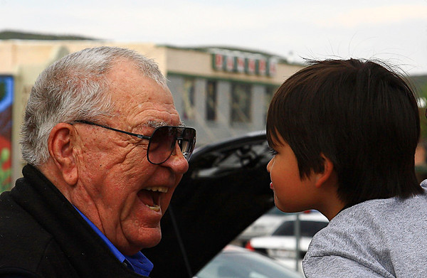 Caroll Shelby and a Young Fan