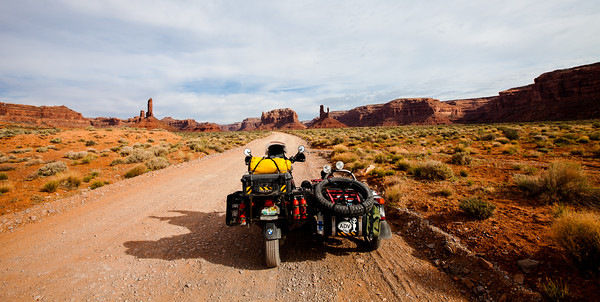 A ride through Valley of the Gods, Utah.